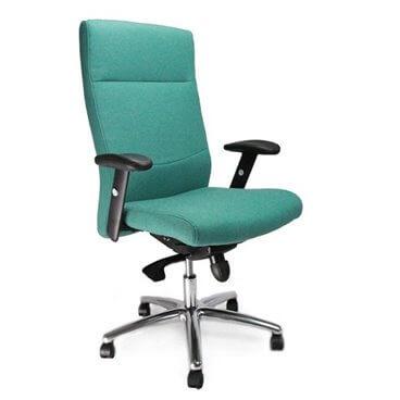 charlotte-komfortstol-med-hog-rygg-och-justerbara-armar-och-kromstativ-aqua