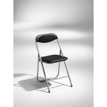 combo-faellbar-stol-silvergra-med-svart-sits